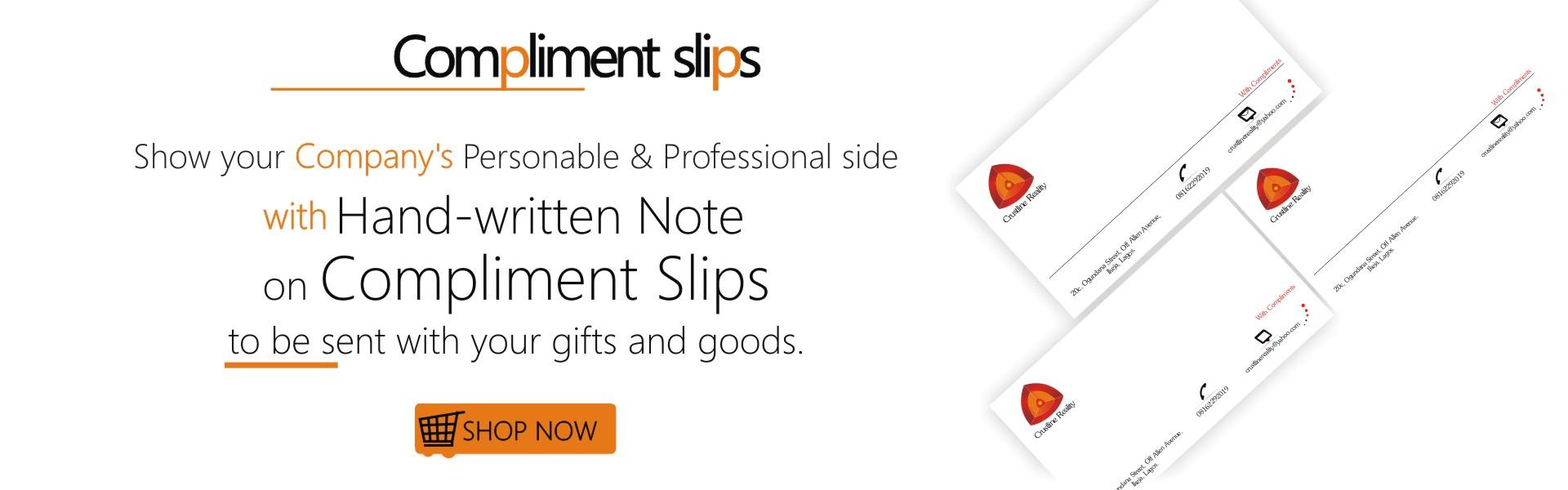 Compliment Slip