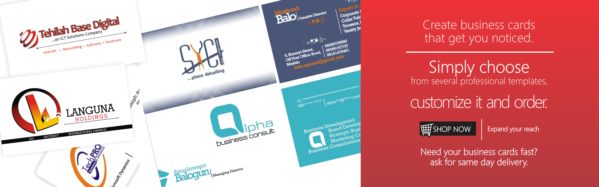Business Cards 1c