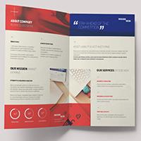 A3 Card Tri- fold Brochures