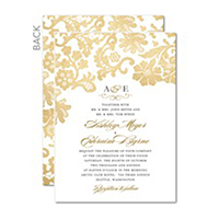 Two Sided Wedding Invitations
