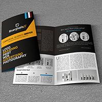 A4 Card Bi-fold Brochures