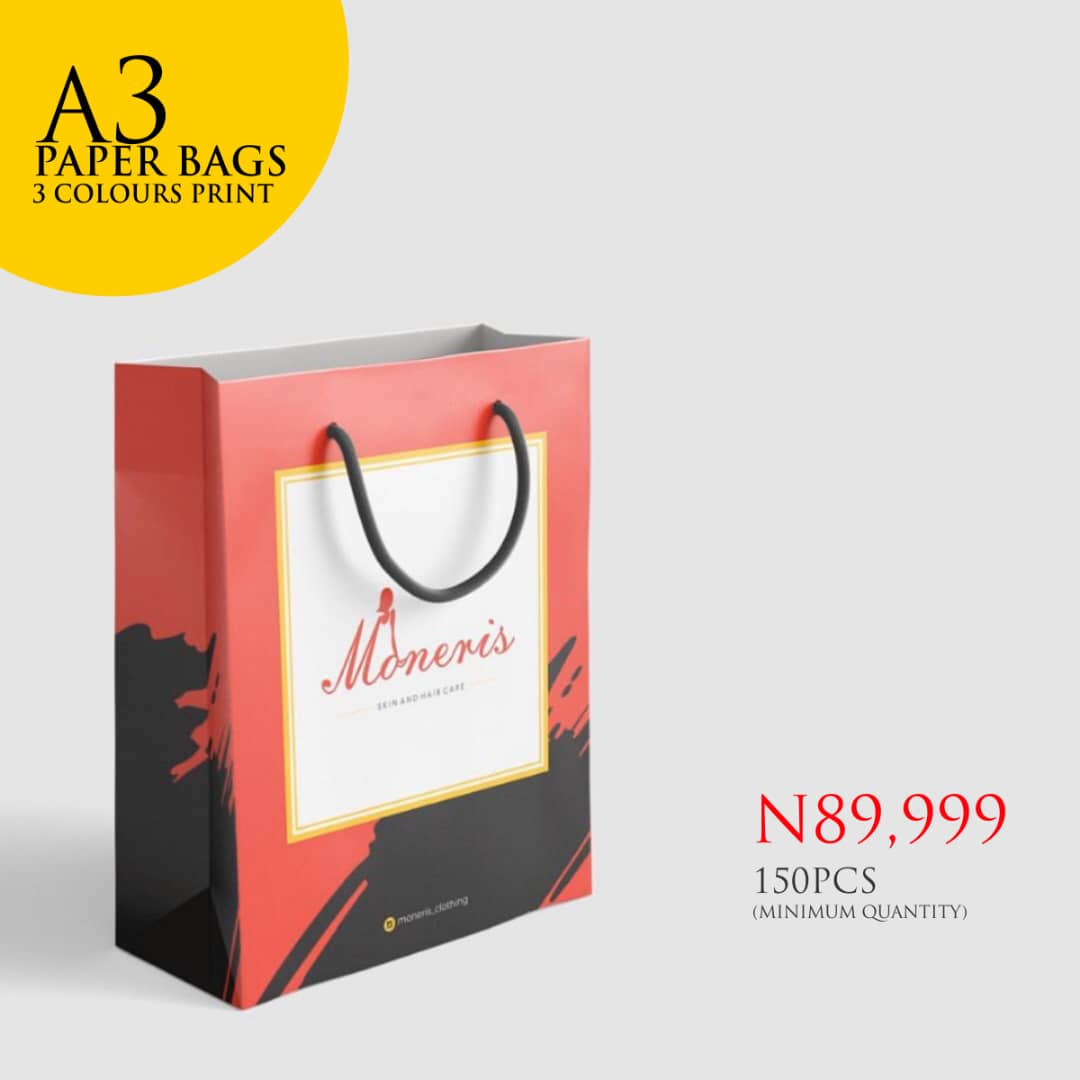 Branded Paper Bags Large 3 Colours