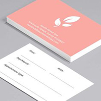 Double Sided Appointment Card