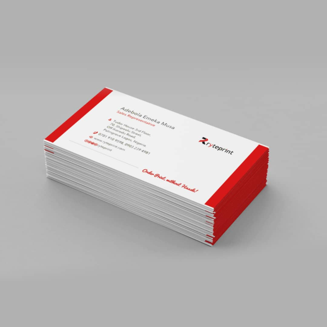 Standard Business Cards One Sided