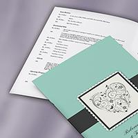 A4 Wedding Programme