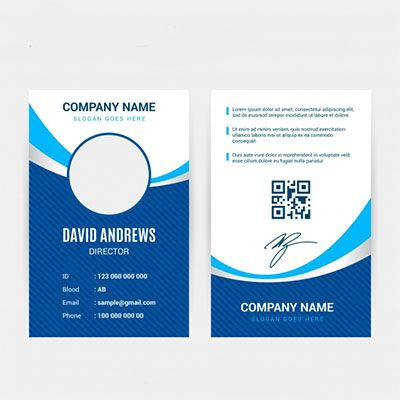 Plastic ID Cards Coloured Front & Back