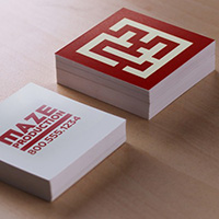 Square Business Cards Double Sided
