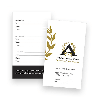 One Sided Appointment Card