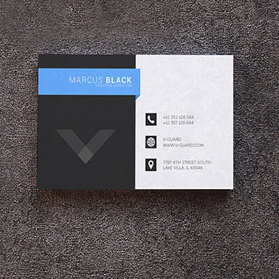 One Sided Business Cards BRILLIANT FINISH