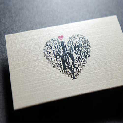 Linen Business Cards One Sided