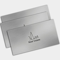 Rounded Corner Business Cards Metallic Colour
