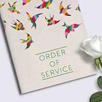 A5 Wedding Programme