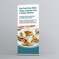 Roll Up Banner- Slim Base (Small Size)