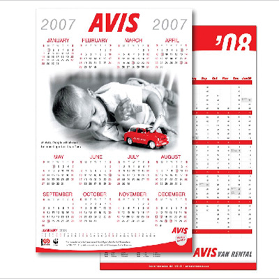 A3 Wall Calendar Almanac