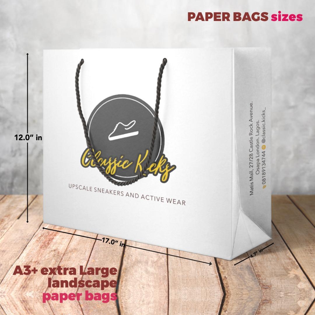 A3 Paper Bag Size Landscape