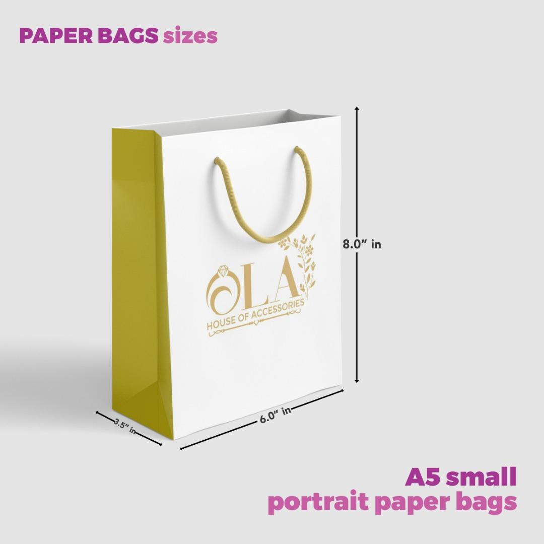 A5 Paper Bag Size