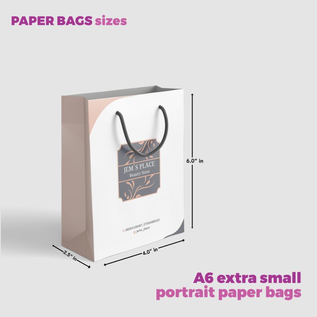 A6 Paper Bag Size